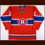 1982-83 Ric Nattress Montreal Canadiens Game Worn Jersey – Rookie