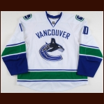 2008-09 Ryan Johnson Vancouver Canucks Game Worn Jersey - Photo Match – Team Letter