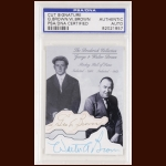 George and Walter Brown Autographed Card - The Broderick Collection - Deceased