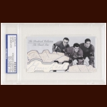 "The Punch Line Autographed Card - Toe Blake, Maurice ""Rocket"" Richard, Elmer Lach - The Broderick Collection - Deceased"