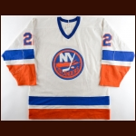 1983-84 Mike Bossy New York Islanders Stanley Cup Finals Game Worn Jersey - 1st Team NHL All Star - Photo Match