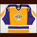 1984-85 Phil Sykes Los Angeles Kings Game Worn Jersey