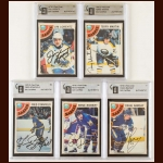 Lot of (5) 1978-79 OPC Buffalo Sabres Autographed Cards – GAI Certified