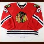 2010-11 Corey Crawford Chicago Blackhawks Game Worn Jersey - Rookie - Photo Match - Team Letter