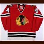 1972-73 Doug Jarrett Chicago Blackhawks Stanley Cup Finals Game Worn Jersey - Photo Match