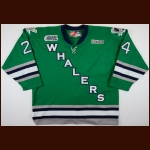 2003-04 Gino Pisellini Plymouth Whalers Game Worn Jersey – Alternate