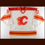 "1989-90 Mike Vernon Calgary Flames Game Worn Jersey – ""10-year Anniversary"" - All Star Season"