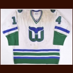 1980-81 Dave Keon Hartford Whalers Game Worn Jersey - Photo Match - Video Match - The New England Collection