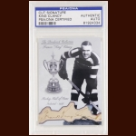 "Francis ""King"" Clancy Autographed Card - The Broderick Collection - Deceased"