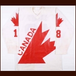 1976 Serge Savard Team Canada Canada Cup Pre-Tournament Game Worn Jersey