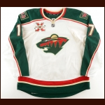 "2010-11 Casey Wellman Minnesota Wild Game Worn Jersey – ""10-Year Anniversary"" - Photo Match – Team Letter"