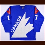 1978 Willie Huber Team Canada World Junior Championships Game Worn Jersey - Video Match