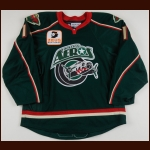 "2008-09 Bryan Lundbohm Houston Aeros Game Worn Jersey – ""Aeros 15-year Anniversary"" – Team Letter"
