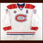 "2014-15 Andrei Markov Montreal Canadiens Game Worn Jersey – ""Beliveau-4"" – Photo Match"