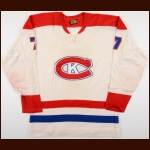 1970's Kingston Canadians Game Worn Jersey – Player #7 - Honored Number