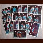 1972-73 WHA Quebec Nordiques Team Postcard Complete Set of 21 - First Year WHA