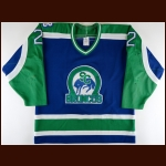 1990-91 Len MacAusland Swift Current Broncos Game Worn Jersey