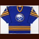 1987-88 Kevin Maguire & 1984-85 Bob Halkidis Buffalo Sabres Game Worn Jersey – Rookie