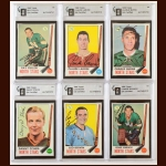 Lot of (6) 1969-70 Topps Minnesota North Stars Autographed Cards – GAI Certified
