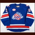 2016-17 William Carrier Rochester Americans Game Worn Jersey - Photo Match