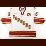 2012-13 Christian Isackson University of Minnesota Game Worn Jersey – Alternate – Photo Match