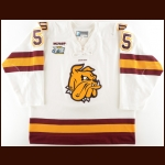 "2010-11 Trent Palm University of Minnesota-Duluth Game Worn Jersey – ""2011 Frozen Four"" - 1st UMD National Championship - Photo Match"