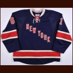 2014-15 Rick Nash New York Rangers Heritage Game Worn Jersey - Career Best 42-Goal Season - Photo Match – Team Letter