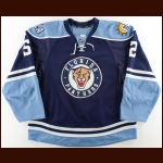 2010-11 Jason Garrison Florida Panthers Game Worn Jersey – Alternate - Photo Match – Team Letter