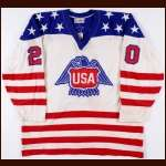 1976 Lee Fogolin Team USA Canada Cup Game Worn Jersey