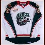 2007-08 Brandon Rogers Houston Aeros Game Worn Jersey - AHL Letter - University of Michigan Alum