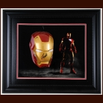 Stan Lee Autographed Iron Man Mask Display – Stan Lee Hologram on Back of Mask