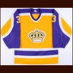 1985-86 Garry Galley Los Angeles Kings Game Worn Jersey - 2nd NHL Season - Photo Match
