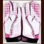 Chris Conte Chicago Bears Breast Cancer Awareness Game Worn Gloves - NFL Auctions COA