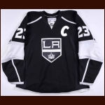 2008-09 Dustin Brown Los Angeles Kings Game Worn Jersey – Alternate - Team Letter