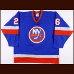 1981-82 Dave Langevin New York Islanders Game Worn Jersey - Stanley Cup Season - Photo Match
