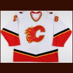 2001-02 Steve Begin Calgary Flames Game Worn Jersey
