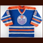 1986-87 Mark Napier Edmonton Oilers Game Worn Jersey – Stanley Cup Season – Team Letter