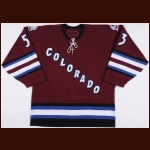 2006-07 Brett McLean Colorado Avalanche Game Worn Jersey – Alternate