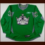 2010-11 Davis Drewiske Los Angeles Kings Warm-Up Jersey - St. Patrick's Day – Team Letter