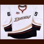 "2013-14 Emerson Etem Anaheim Ducks Game Issued Jersey – ""20-year Anniversary"""