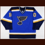 2000-01 Dallas Drake St. Louis Blues Game Worn Jersey - Photo Match – Team Letter