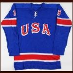 1969 Tim Sheehy Team USA World Championships Game Worn Jersey