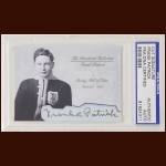 Frank Patrick Autographed Card - The Broderick Collection - Deceased