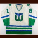 1980-81 Marty Howe Hartford Whalers Game Worn Jersey - The New England Collection