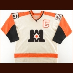 Early 1980's Dennis Patterson Maine Mariners Game Worn Jersey