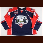 2007-08 Karl Goehring Syracuse Crunch Game Worn Jersey – AHL Letter