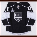 "2013-14 Mike Richards Los Angeles Kings Stanley Cup Finals Game Worn Jersey – ""2014 Stanley Cup Finals"" - Photo Match – Team Letter"