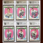 Lot of (6) 1971-72 Topps Vancouver Canucks Autographed Cards – GAI Certified