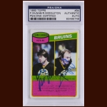 Boston Bruins Team Leaders 1980 Topps – Peter McNab & Rick Middleton – Autographed – PSA/DNA