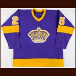 1977-78 Darryl Edestrand & Larry Carriere LA Kings Game Worn Jersey